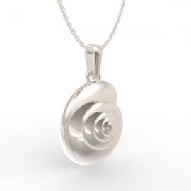 Snail pendant in sterling silver 0.925