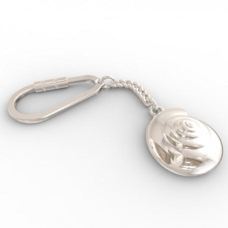 Snail keyring in sterling silver 0.925
