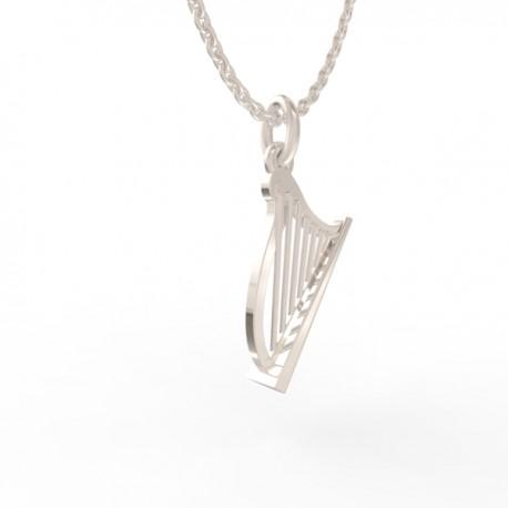 Harp pendant in sterling silver 0.925