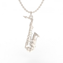 Saxophone pendant in sterling silver 0.925 small