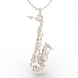 Saxophone pendant in sterling silver 0.925 large