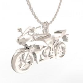 Honda CBR pendant in sterling silver 0.925