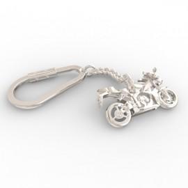 Honda CBR keyring in sterling silver 0.925