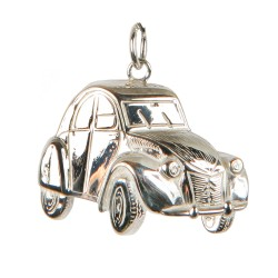 2CV pendant in sterling silver 0.925 large