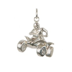 Quad bike pendant in sterling silver 0.925 large